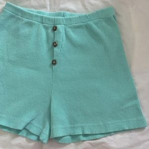 Pants - Vintage seafoam green high waisted shorts